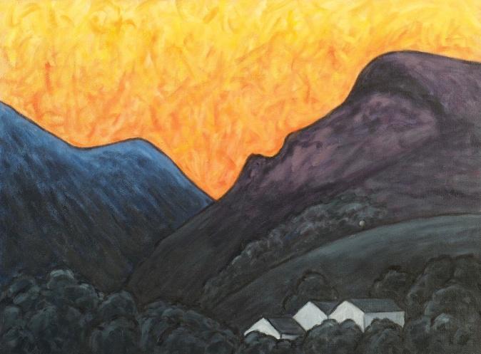 Dawn over Ennerdale, Oil on canvas, 60 x 45 cm