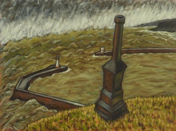 Candlestick in a Storm, Oil on canvas, 60 x 45 cm