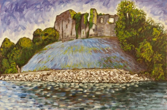 Cockermouth Castle, Oil on canvas, 75 x 50 cm