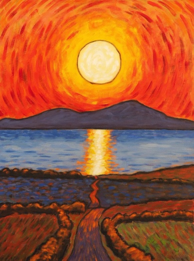 Solway Sunset, Oil on canvas, 45 x 60 cm