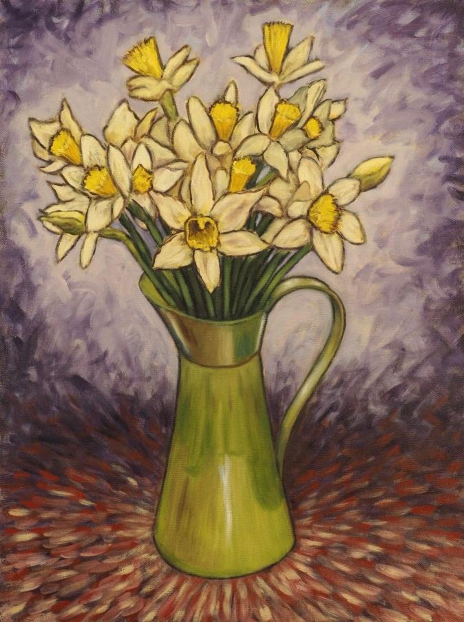 Daffodils, Oil on canvas, 45 x 60 cm