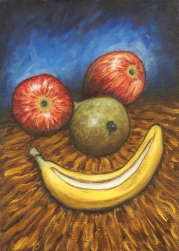 Smile, Oil on canvas, 25 x 35 cm