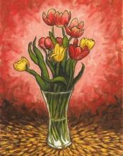 Tulips, Oil on canvas, 35 x 45 cm