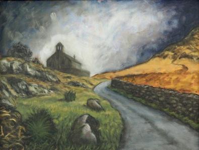 An Unfortunate Encounter, Oil on canvas, 40 x 30 cm