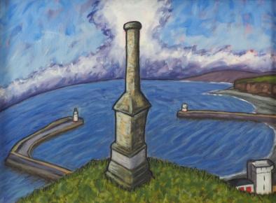 Candlestick & Cloud, Oil on canvas, 60 x 45 cm