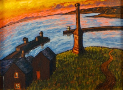 Candlestick at Sunset, Oil on canvas, 60 x 45 cm