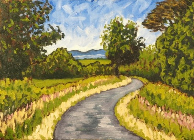 The Long & Wingding Road, Oil on canvas, 35 x 25 cm