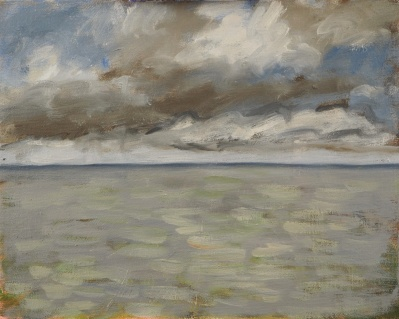 Study of Sea & Sky, Oil on board, 26 x 20 cm