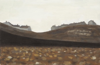 View of Parton from Beach, Oil on board, 23 x 15 cm