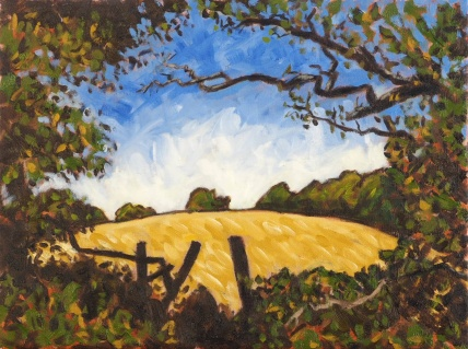 Hole in the Hedge, Oil on canvas