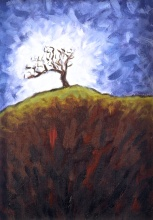 The Shining Tree, Oil on canvas, 23 x 33 cm
