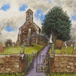 St Mary's Church, Gilcrux, Oil on canvas, 50 x 50 cm