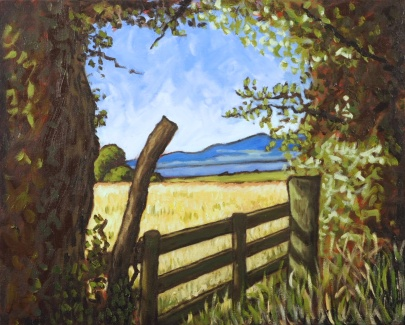Solway & Scotland from Droving Lane, Gilcrux, Oil on canvas, 50 x 40 cm